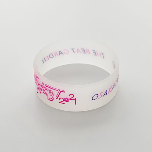 THE NEST 2021 silicone band -Tokyo neon pink-