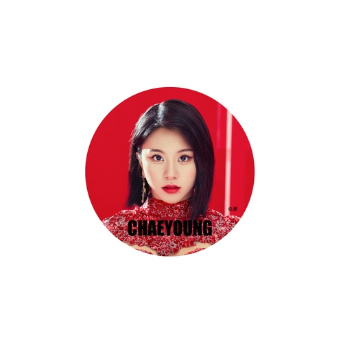 TWICE WORLD TOUR 2019 'TWICELIGHTS' IN JAPAN 缶バッチ/RED【CHAEYOUNG】