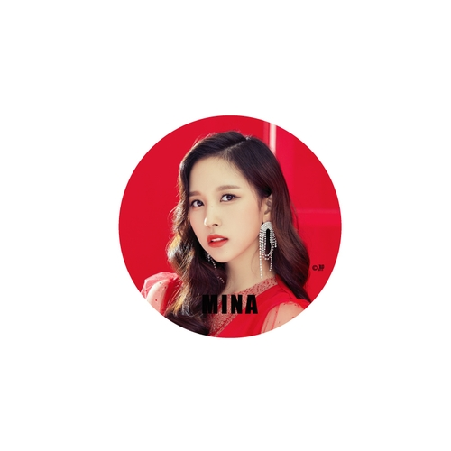 TWICE WORLD TOUR 2019 'TWICELIGHTS' IN JAPAN 缶バッチ/RED【MINA】
