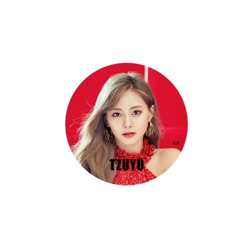 TWICE WORLD TOUR 2019 'TWICELIGHTS' IN JAPAN 缶バッチ/RED【TZUYU】