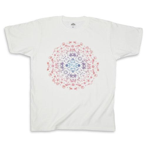 25th マンダラTシャツ/ホワイト