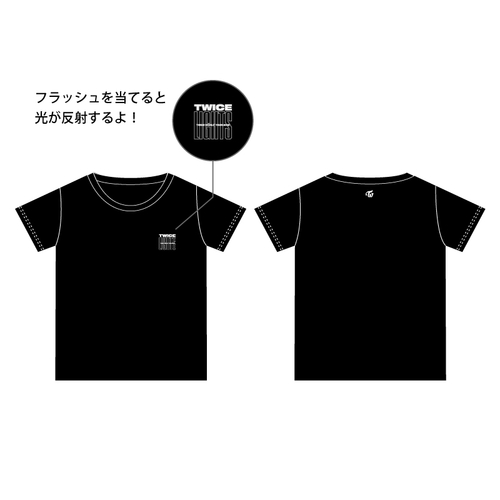 TWICE WORLD TOUR 2019 'TWICELIGHTS' IN JAPAN Tシャツ/ブラック