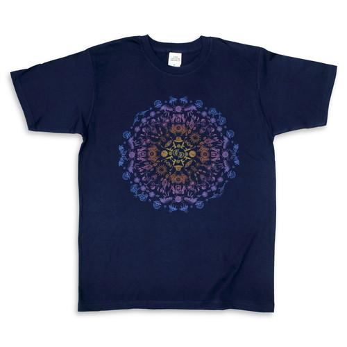 25th マンダラTシャツ/ネイビー