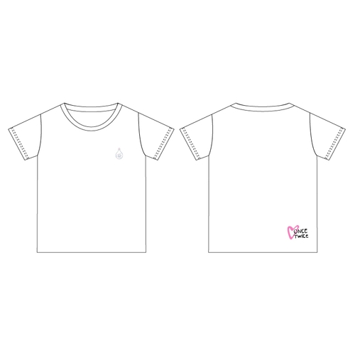 TWICE WORLD TOUR 2019 'TWICELIGHTS' IN JAPAN FC限定Tシャツ/ホワイト 【KIDS】