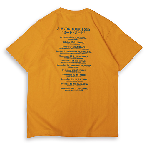 ミート・ミート Tシャツ/ゴールドイエロー【AIMYON TOUR 2020 ミート・ミート】