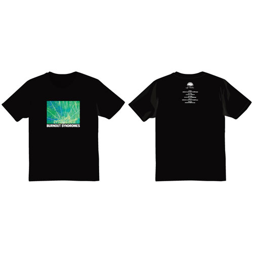 【BURNOUT SYNDROMES】孔雀 Tシャツ(黒)