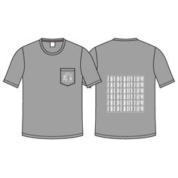 BRIDGE GIRL POCKET Tシャツ / ミックスグレー