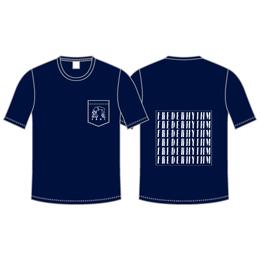 BRIDGE GIRL POCKET Tシャツ / ネイビー