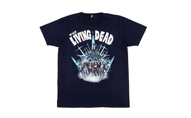 THE LIVING DEAD TEE NAVY