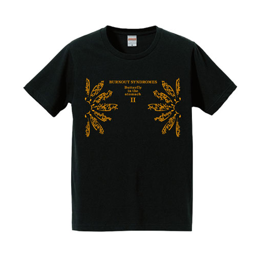 【BURNOUT SYNDROMES】Butterfy in the stomach II Tシャツ(烏羽色)