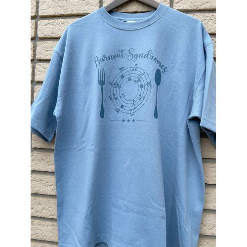 【BURNOUT SYNDROMES】注文の多い料理店―☆☆☆― ビッグシルエットTシャツ/ブルー