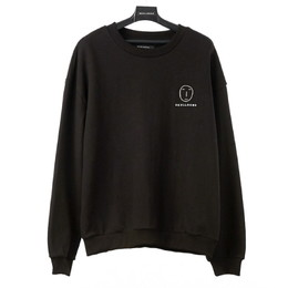 POKER FACE BASIC SWEAT SHIRT(ブラック)【18FW SKULL HONG】