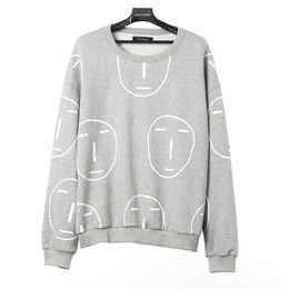 POKER FACE ALL OVER SWEAT SHIRT(グレー)【18FW SKULL HONG】