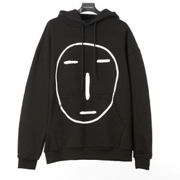 POKER FACE HOODIE SWEAT SHIRT(ブラック)【18FW SKULL HONG】