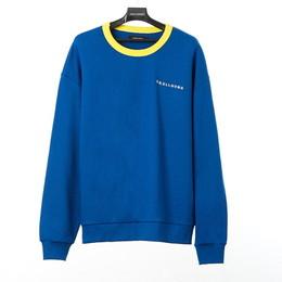 SKULL HONG NECK POINT SWEAT SHIRT(ブルー)【18FW SKULL HONG】