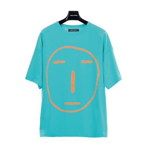 POKER FACE T-SHIRT(ブルーグリーン)【19SS SKULL HONG】