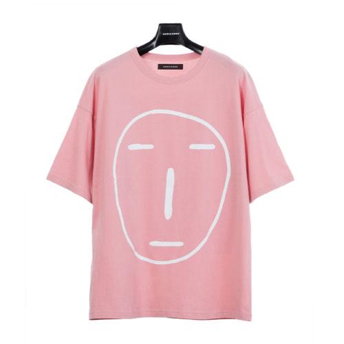 POKER FACE T-SHIRT(ピンク)【19SS SKULL HONG】