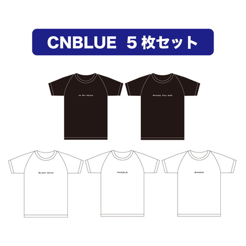 CNBLUE Best Song Lyrics T-shirts【5枚セット】