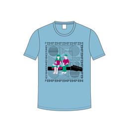 音この子と音なの子Tシャツ / セージブルー
