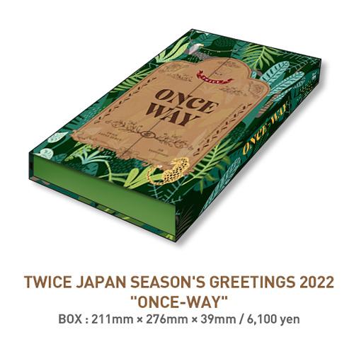 "TWICE JAPAN SEASON'S GREETINGS 2022 ""ONCE-WAY"" SEASON'S GREETINGS"