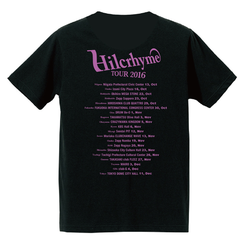 Hilcrhyme 10th Anniversary TOUR 2016 BEST10 Tシャツ黒