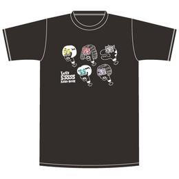 ビックリ 55555! Tシャツ/ブラック