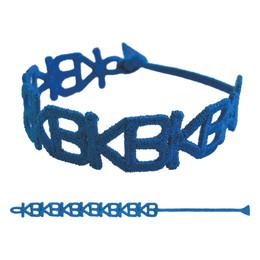 KB刺繍ブレスレット/ブルー