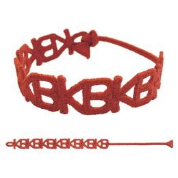 KB刺繍ブレスレット/オレンジ