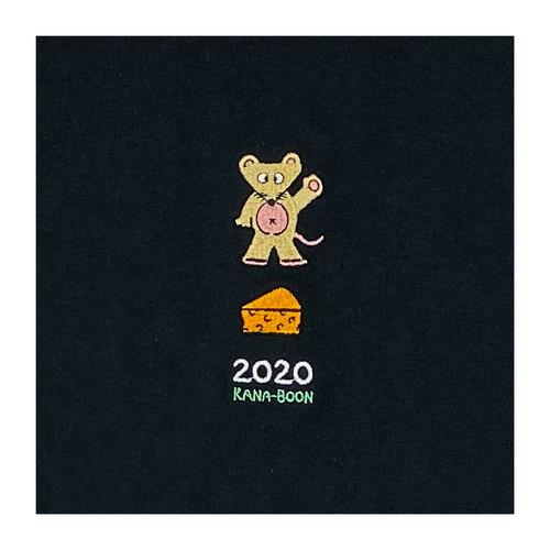 2020 ねずみ刺繍ロンT/ブラック
