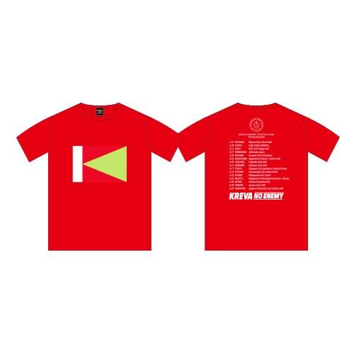 NO ENEMY Tシャツ/レッド