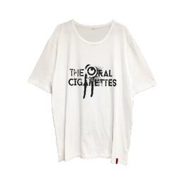 目立ちたがりグランジロゴTシャツ/ホワイト