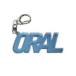 ORALアクリルキーホルダー/クリアブルー