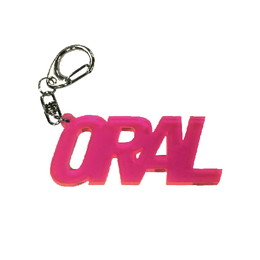 ORALアクリルキーホルダー/クリアピンク