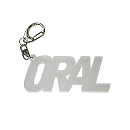 ORALアクリルキーホルダー/マットホワイト