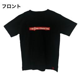 マーカー目玉ロゴラバープリントTシャツ/ブラック