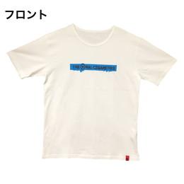 マーカー目玉ロゴラバープリントTシャツ/ホワイト