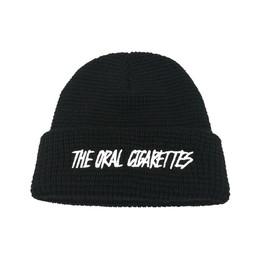 カリグラフィーロゴニット帽/ブラック