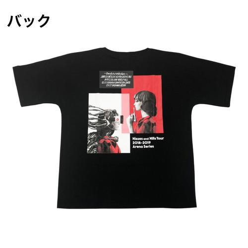 Kisses and Kills アリーナツアーTシャツ/ブラック
