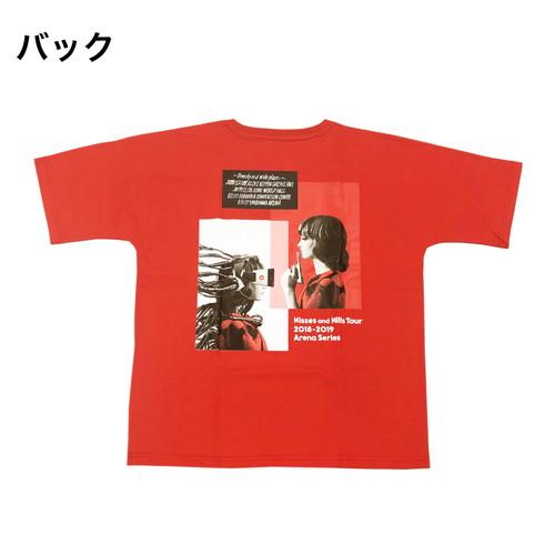 Kisses and Kills アリーナツアーTシャツ/レッド