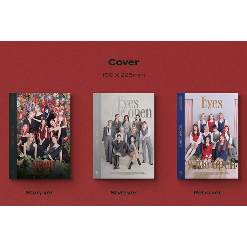 TWICE THE 2ND FULL ALBUM『Eyes wide open』輸入盤【Story ver.+Style ver.+Retro ver.】3形態セット