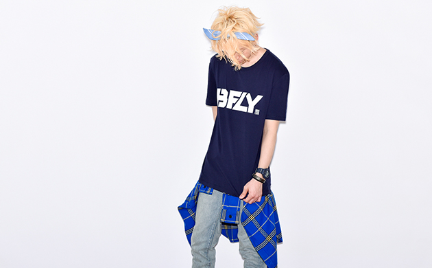 BFLY Loose Fit TEE NAVY