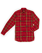 BFLY Plaid Shirts RED