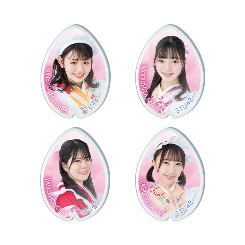 STU48 -桜- ランダムアクリルバッジ