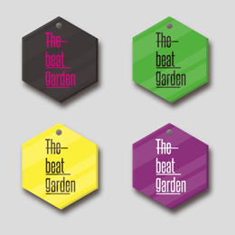 "THE BEAT GARDEN スケルトン アクリルバッジ ""Neon fruits"""