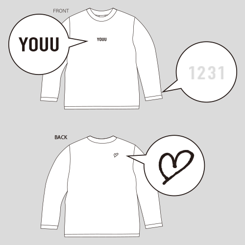 【受注生産】U Birth anniversary LONG SLEEVE T-SHIRTS