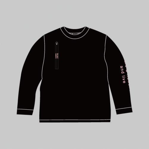 THE BEAT GARDEN ジッパー付オリジナルロングスリーブTee - Black