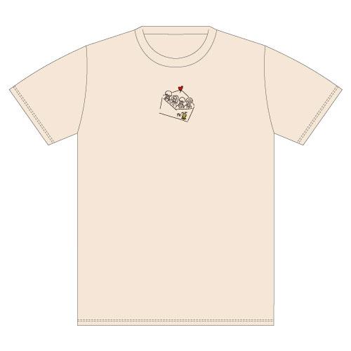 Message オリジナル刺繍Tee -Beige-