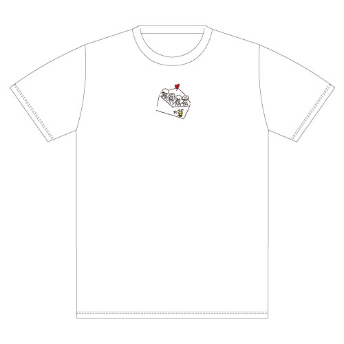 Message オリジナル刺繍Tee -White-