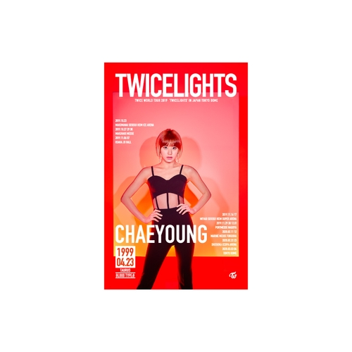 TWICE WORLD TOUR 2019 'TWICELIGHTS' IN JAPAN タペストリー【CHAEYOUNG】