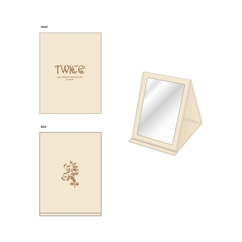 "TWICE JAPAN SEASON'S GREETINGS 2020 ""ILLUSION"" SPECIAL GOODS ミラー/NATURAL"